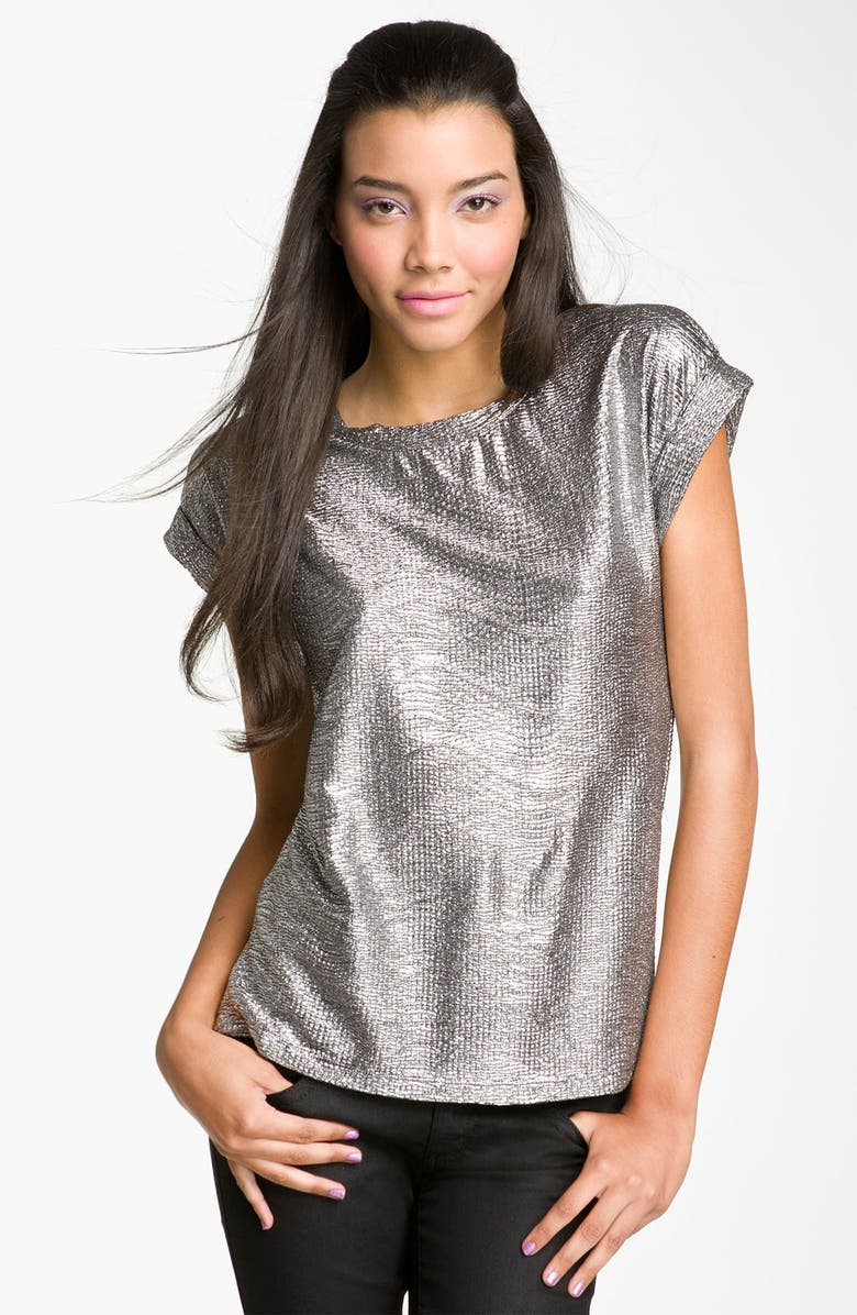LILY WHITE Metallic Top, Main, color, 040