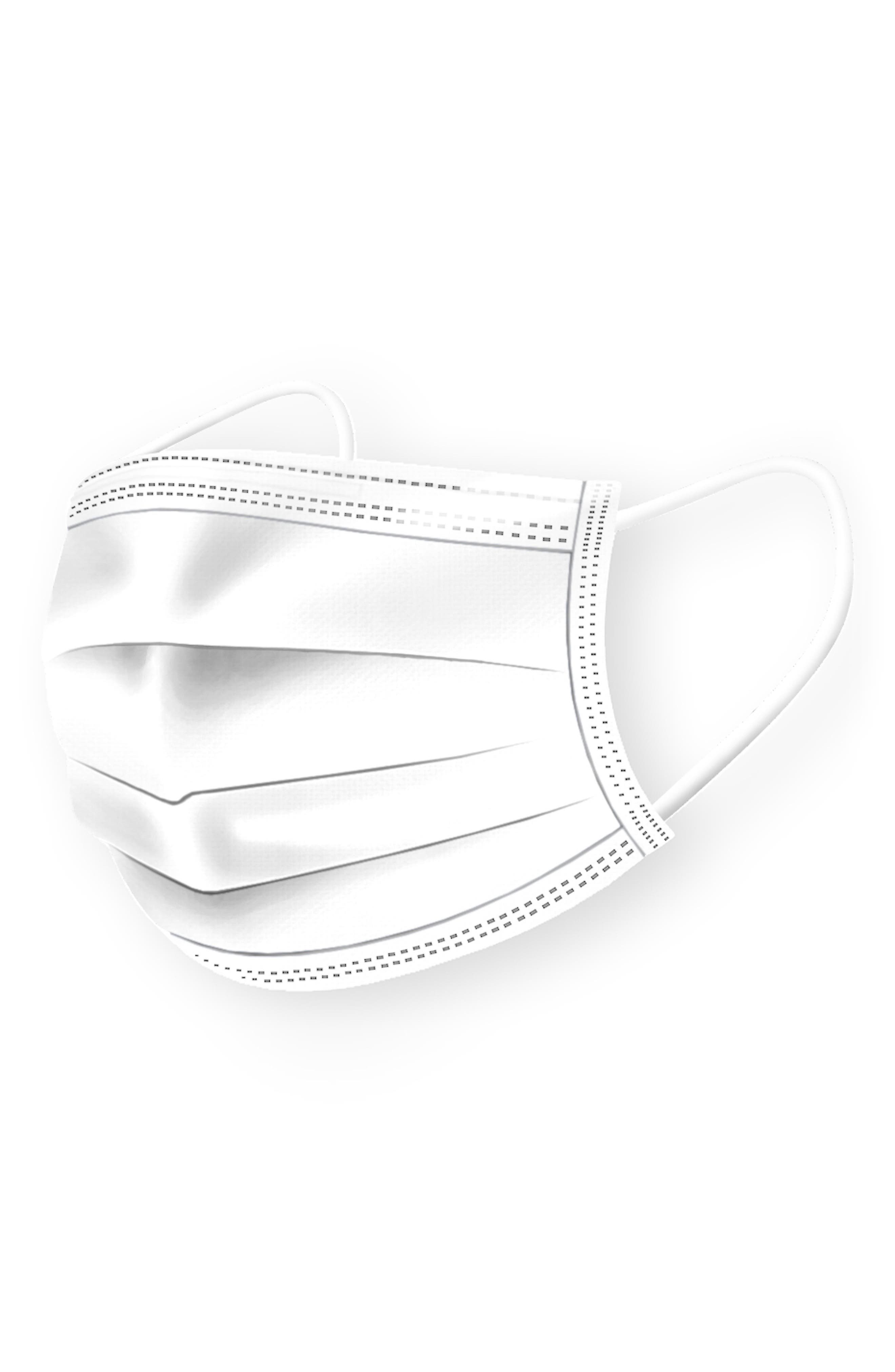 Image of MEDIPOP 5-Pack Adult Disposable Pleated Face Masks