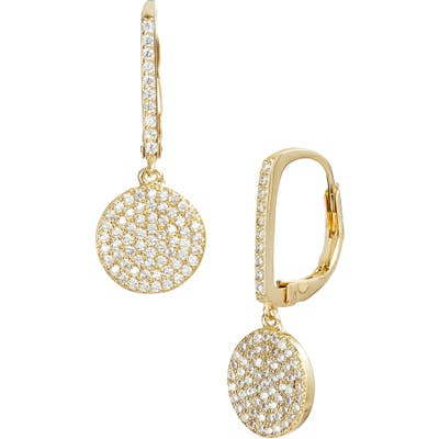 Nordstrom Pave Bar & Disc Drop Earrings