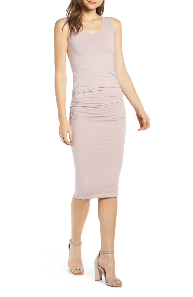 BISHOP + YOUNG Alba Midi Sheath Dress, Main, color, SIERRA