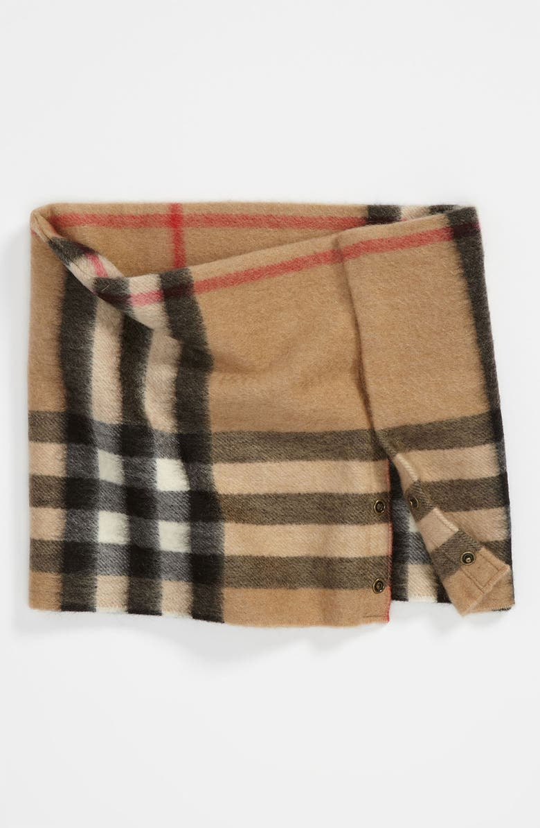 BURBERRY 'House Check' Cashmere Snood, Main, color, 250