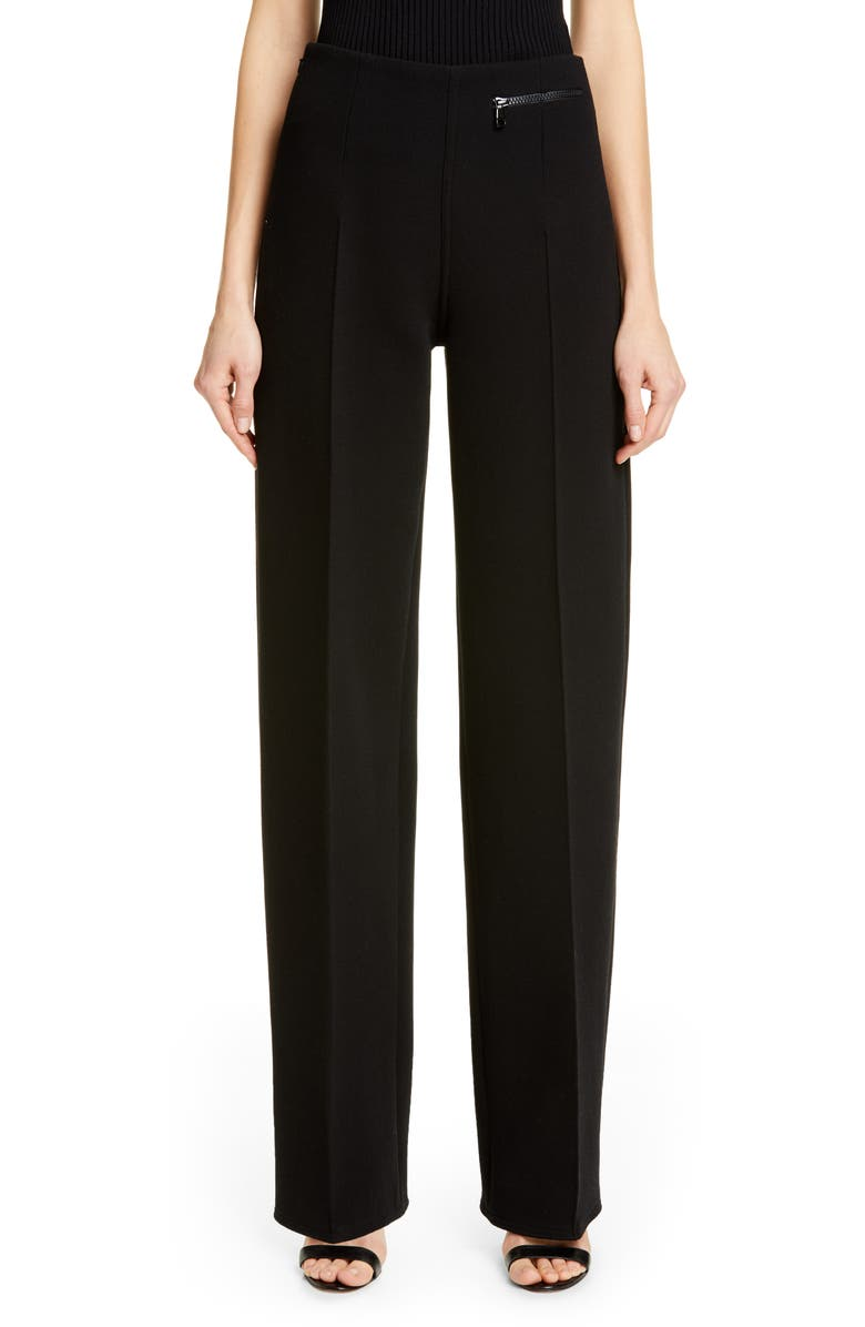 KWAIDAN EDITIONS Straight Leg Wool Blend Pants, Main, color, 001