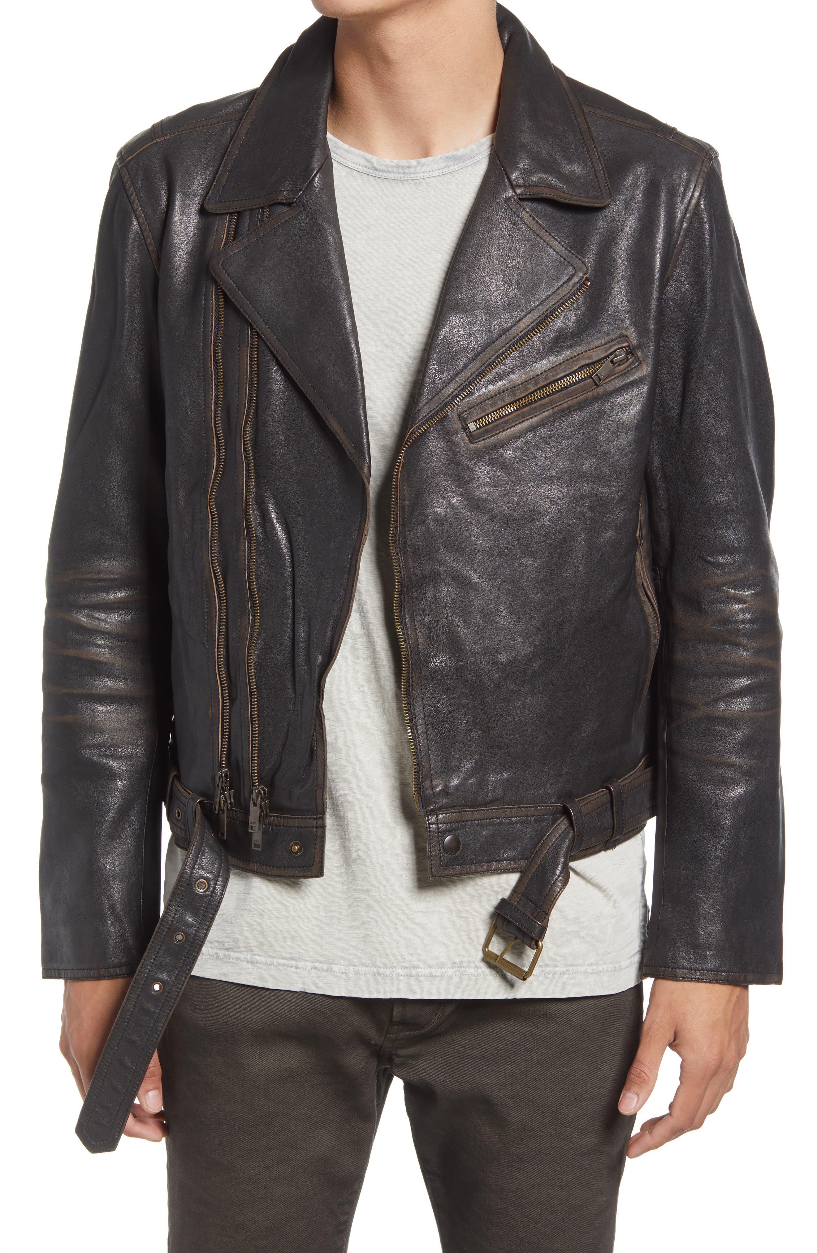 Men's Cole Leather Biker Jacket