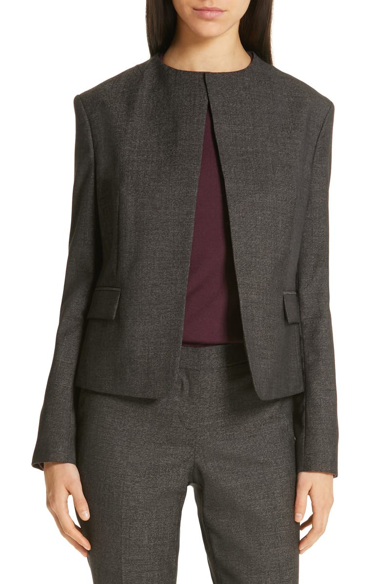 BOSS Jikasana Static Wool Suit Jacket, Main, color, 020