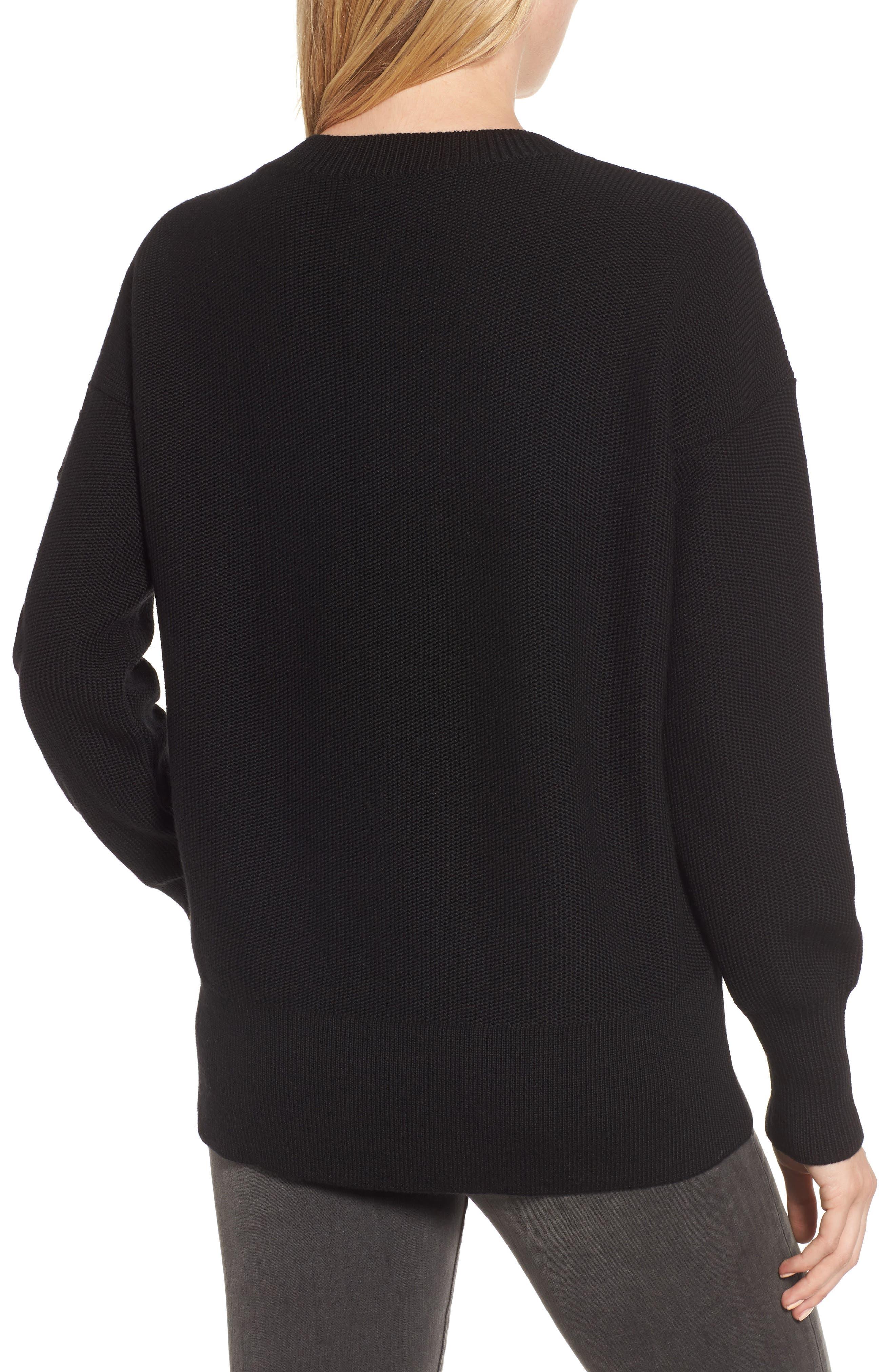 ,                             Aleza Merino Wool Sweater,                             Alternate thumbnail 2, color,                             BLACK