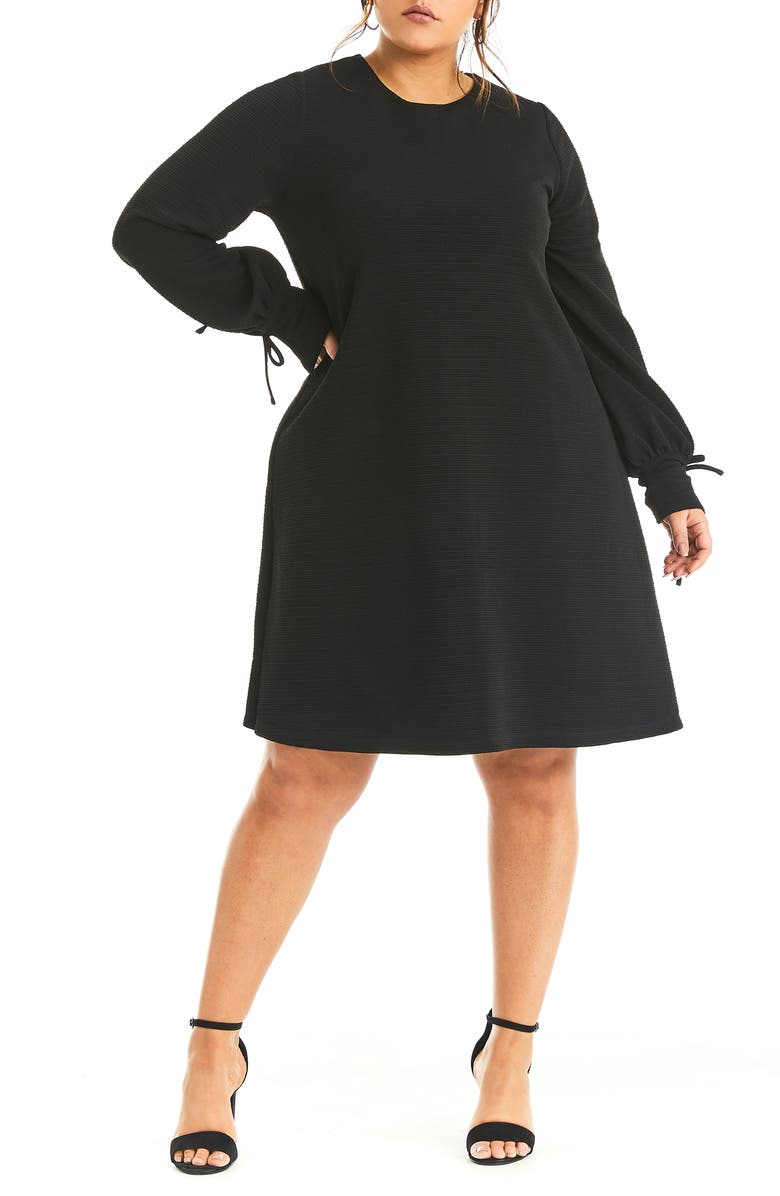 ESTELLE Chloe Long Sleeve Dress, Main, color, BLACK