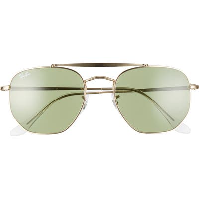 Ray-Ban 5m Gradient Sunglasses - Gold/ Green Solid