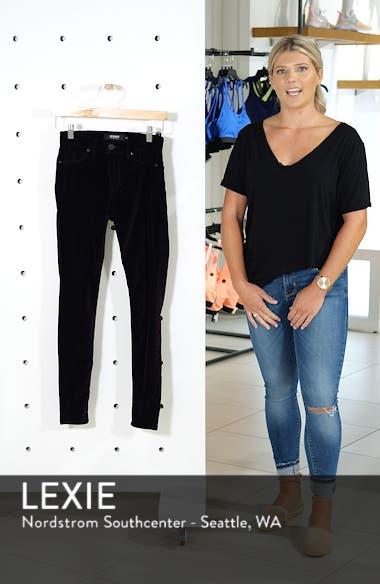 Barbara High Waist Ankle Skinny Velvet Jeans, sales video thumbnail