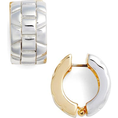 Erwin Pearl Two Tone Cable Earrings