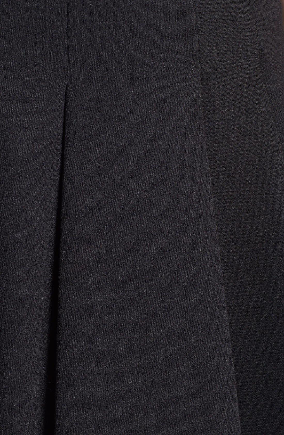 ,                             T by Alexander Wang Bonded Jersey & Neoprene Skirt,                             Alternate thumbnail 3, color,                             001