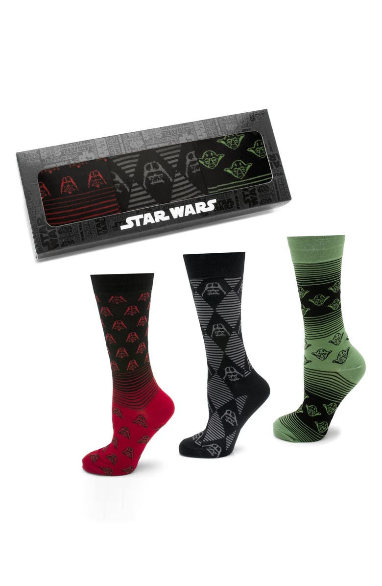 CUFFLINKS, INC. 'Star Wars' 3-Pack Socks, Main, color, 001