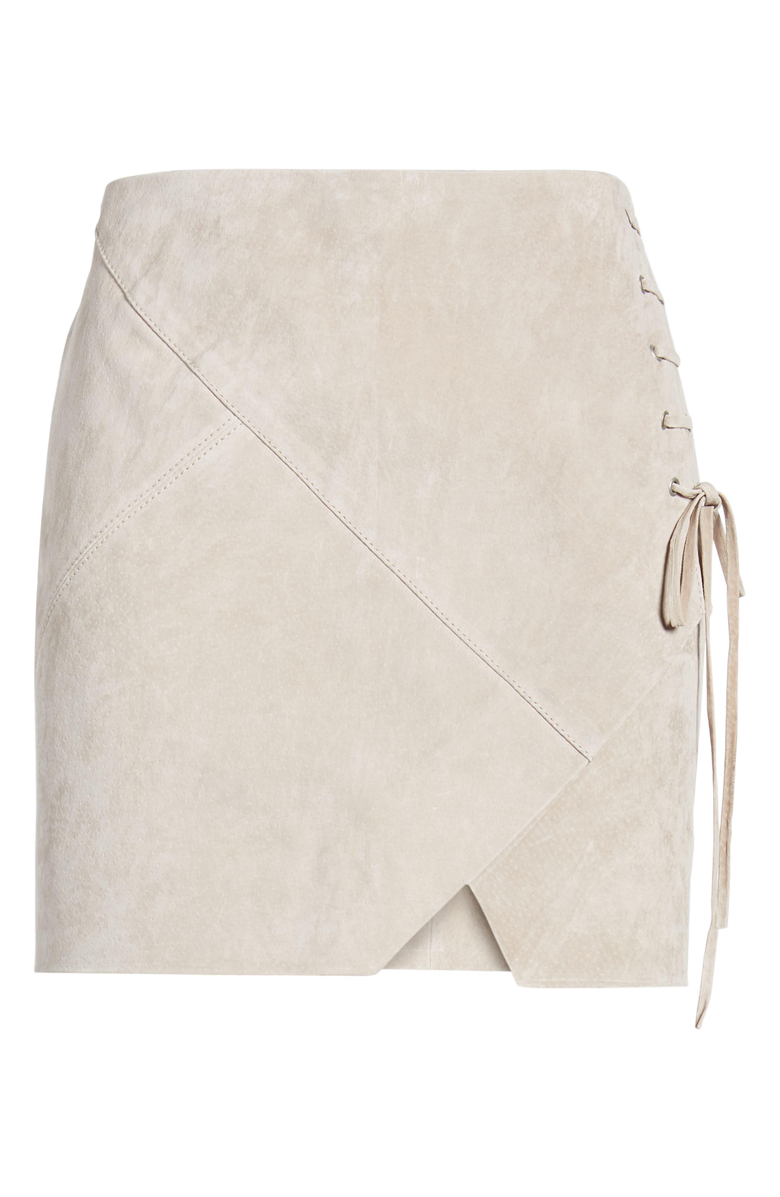 ,                             Lace-Up Suede Miniskirt,                             Alternate thumbnail 12, color,                             251