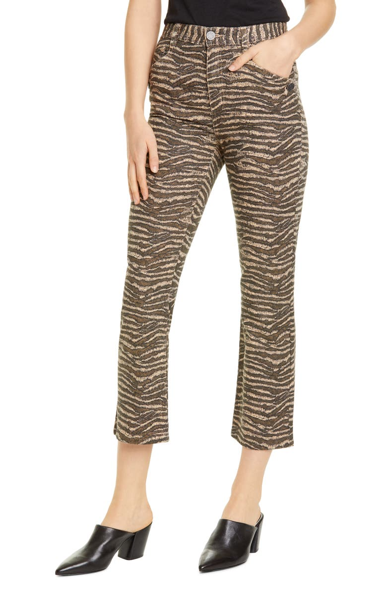 JOIE Sharma Tiger Stripe Crop Pants, Main, color, BISCOTTI