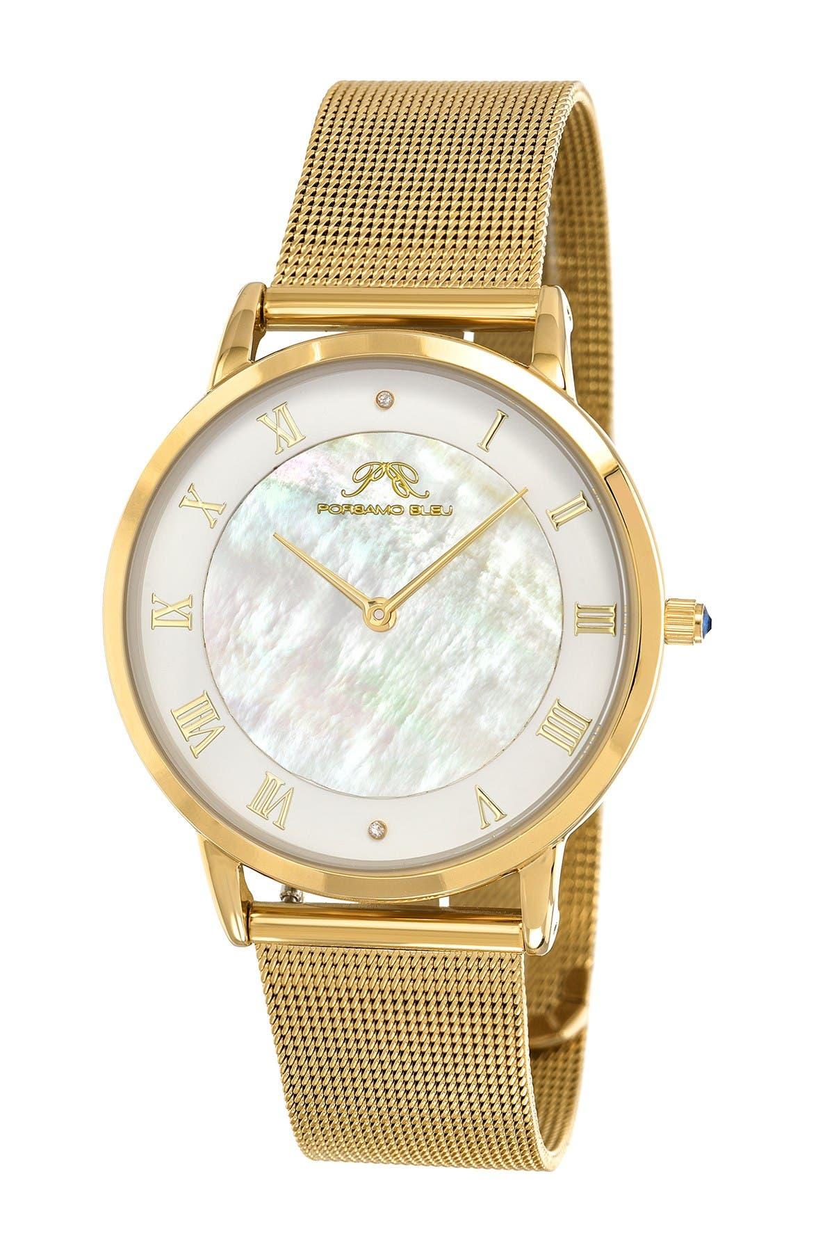Image of Porsamo Bleu Women's Nina Interchangeable Bands Diamond Watch, 38mm - 0.01 ctw
