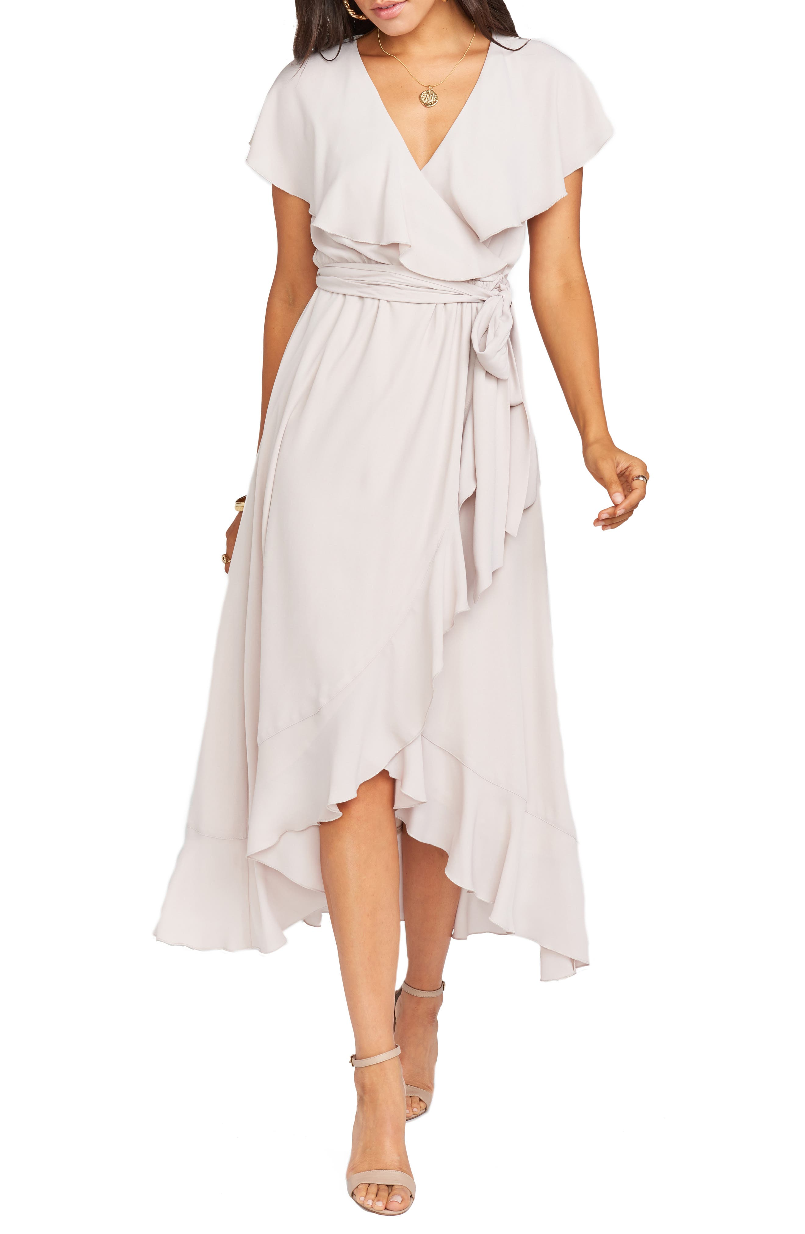 60s Wedding Dresses | 70s Wedding Dresses Womens Show Me Your Mumu Jess Ruffle Maxi Dress Size X-Small - Beige $198.00 AT vintagedancer.com