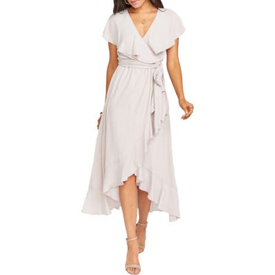 Show Me Your Mumu Jess Ruffle Maxi Dress, Beige