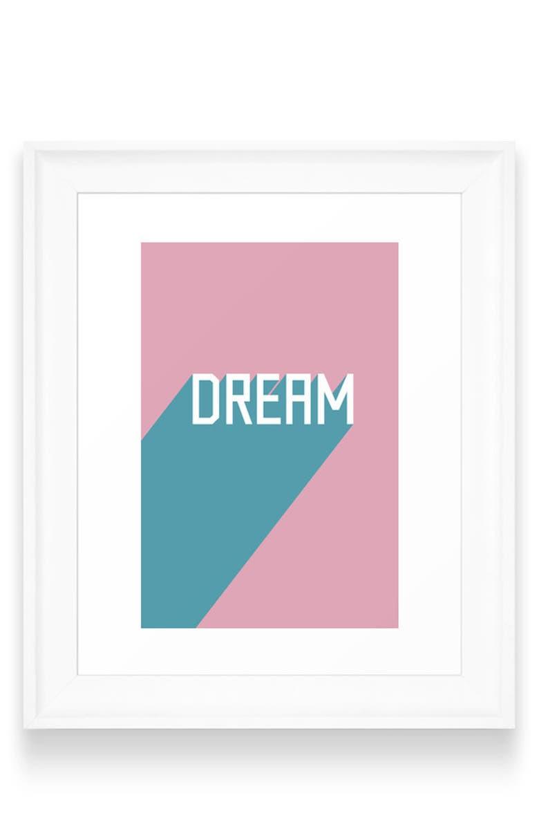 DENY DESIGNS Dream Art Print, Main, color, WHITE FRAME