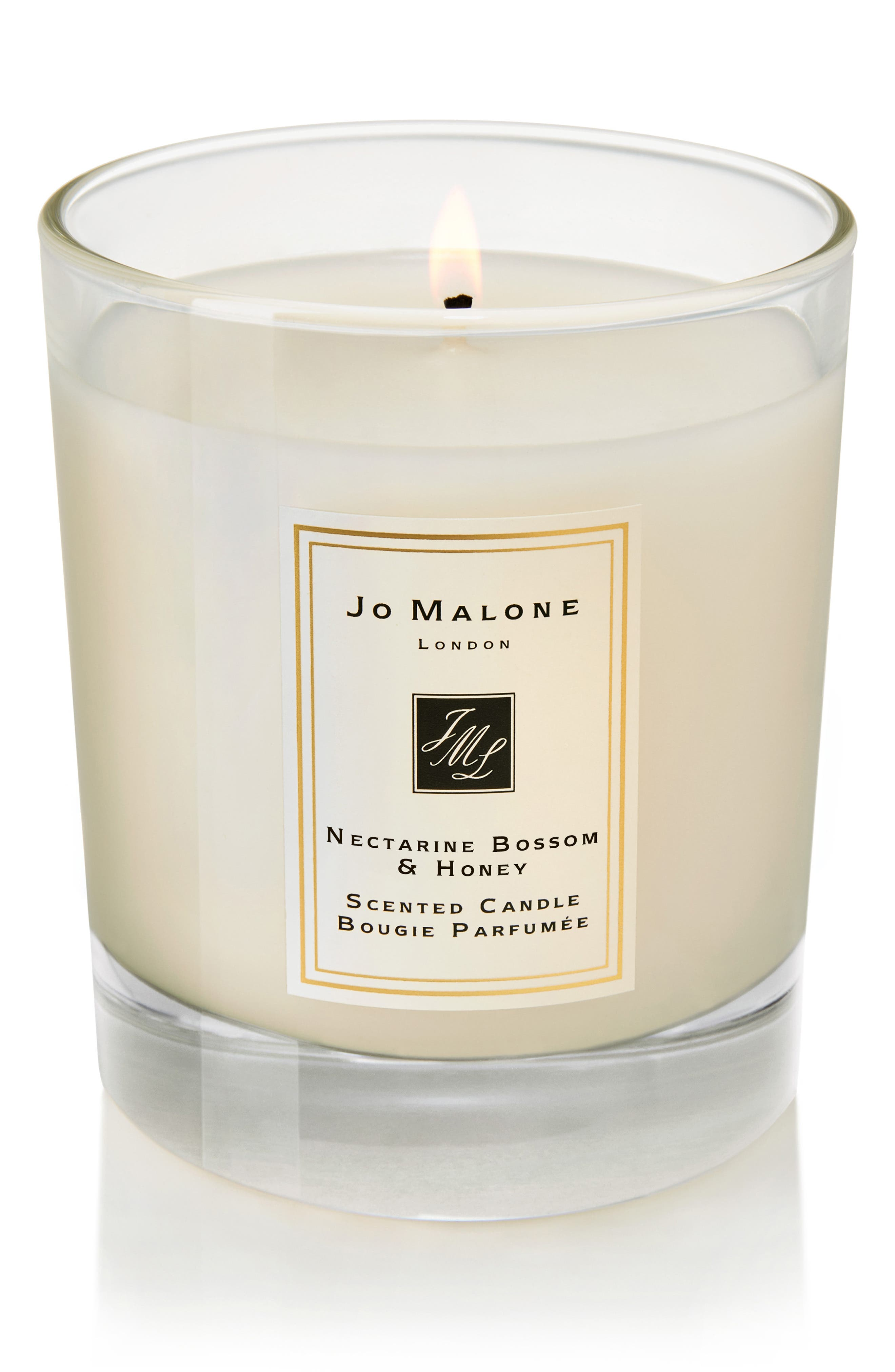 ,                             Jo Malone<sup>™</sup> Nectarine Blossom & Honey Scented Home Candle,                             Alternate thumbnail 3, color,                             NO COLOR