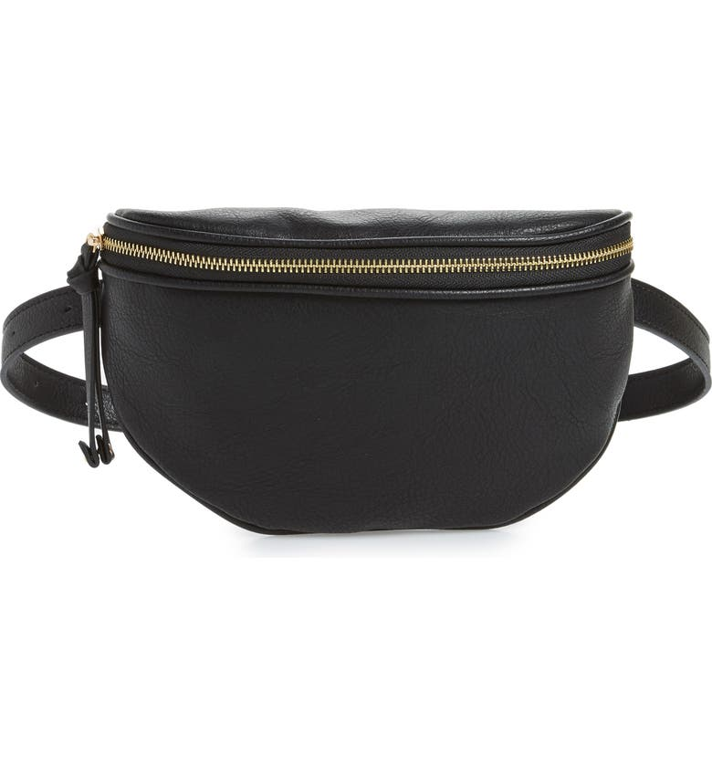 SOLE SOCIETY Audre Belt Bag, Main, color, 001