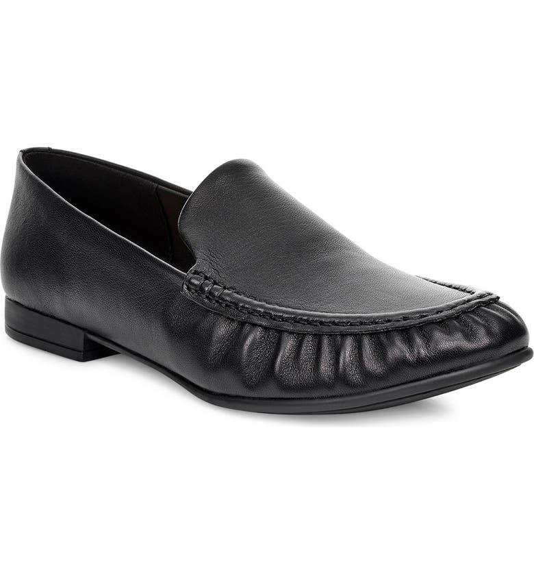 UGG<SUP>®</SUP> Vivian Moc Loafer Flat, Main, color, BLACK LEATHER