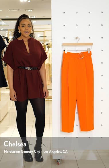 Wilma Belted Peg Tapered Trousers, sales video thumbnail