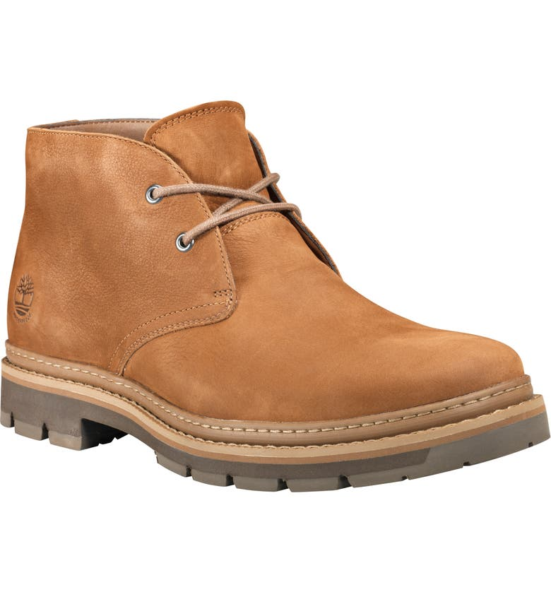 TIMBERLAND Port Union Waterproof Chukka Boot, Main, color, RUST NUBUCK
