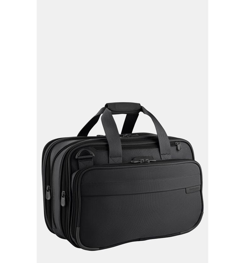 BRIGGS & RILEY Baseline 17-Inch Expandable Cabin Bag, Main, color, BLACK