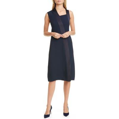 Boss Danelava Asymmetrical A-Line Dress, Blue