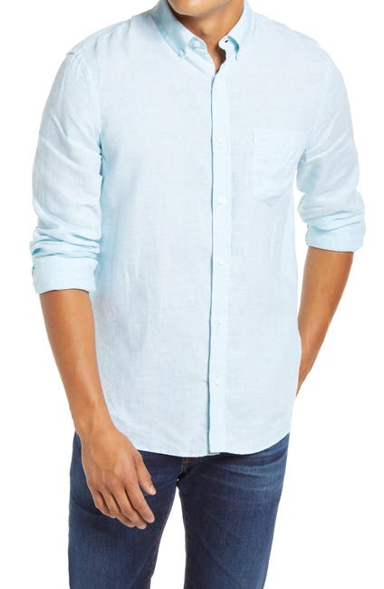 Image of 1901 Slim Fit Linen Button-Down Shirt