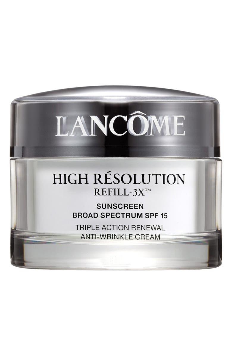 LANCÔME High Résolution Refill-3X Anti-Wrinkle Moisturizer Cream SPF 15 Sunscreen, Main, color, NO COLOR