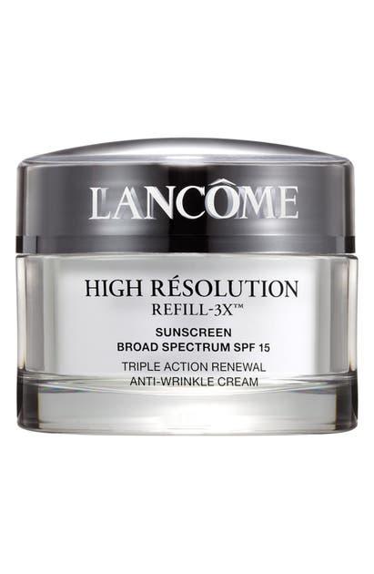 Lancôme High Resolution Refill-3x Anti-wrinkle Moisturizer Cream Spf 15 Sunscreen, 2.6 oz