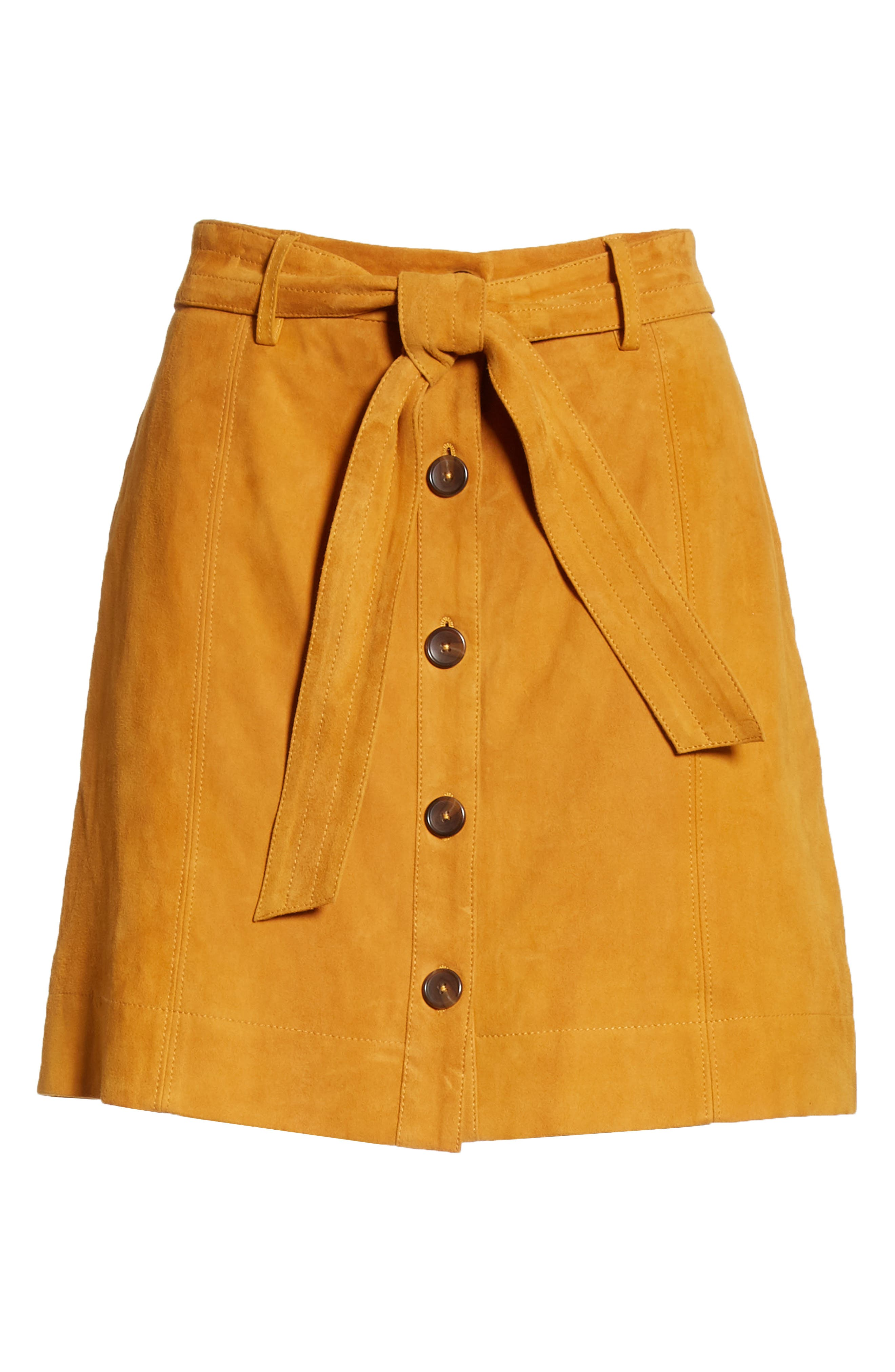 ,                             Neida Suede Miniskirt,                             Alternate thumbnail 12, color,                             800