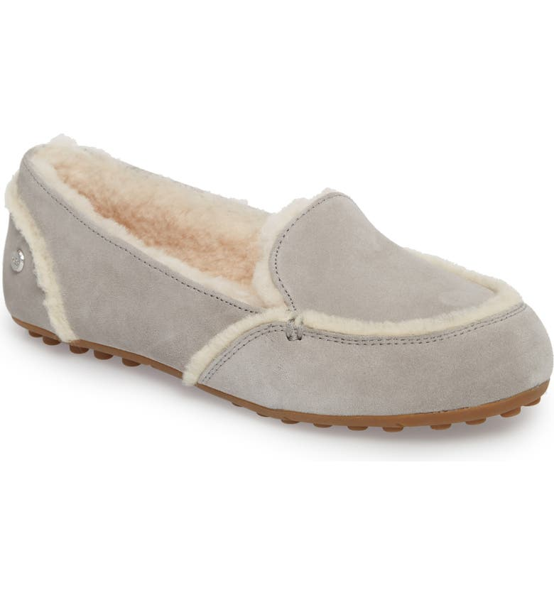 UGG<SUP>®</SUP> Hailey Slipper, Main, color, GREY SUEDE