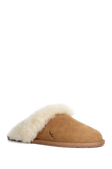 Image of KOOLABURRA BY UGG Milo Genuine Shearling & Faux Fur Trimmed Scuff Slipper