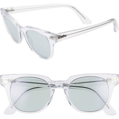 Ray-Ban Meteor 50Mm Wayfarer Photochromic Sunglasses - Crystal/ Blue Solid