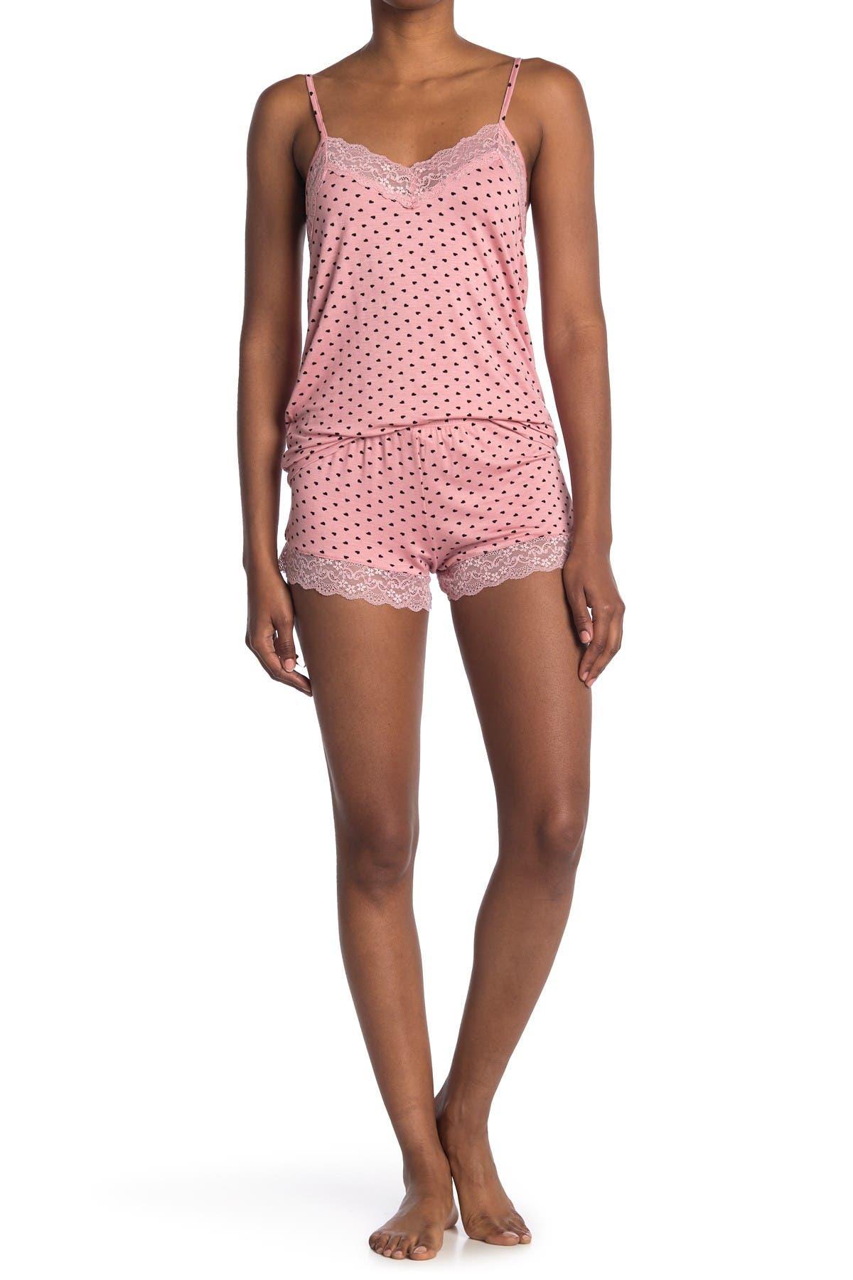 Image of COZY ROZY Heart Printed Pajama 2-Piece Set