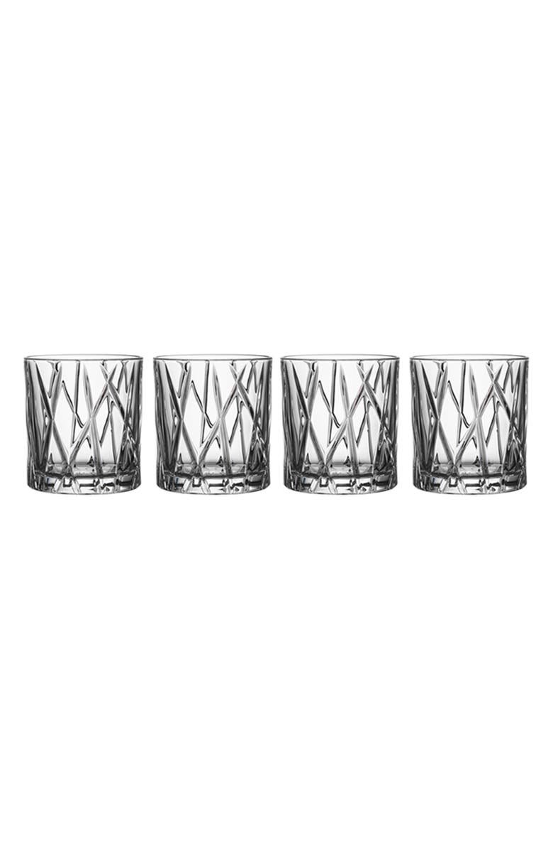 ORREFORS City Set of 4 Crystal Old Fashioned Glasses, Main, color, CLEAR