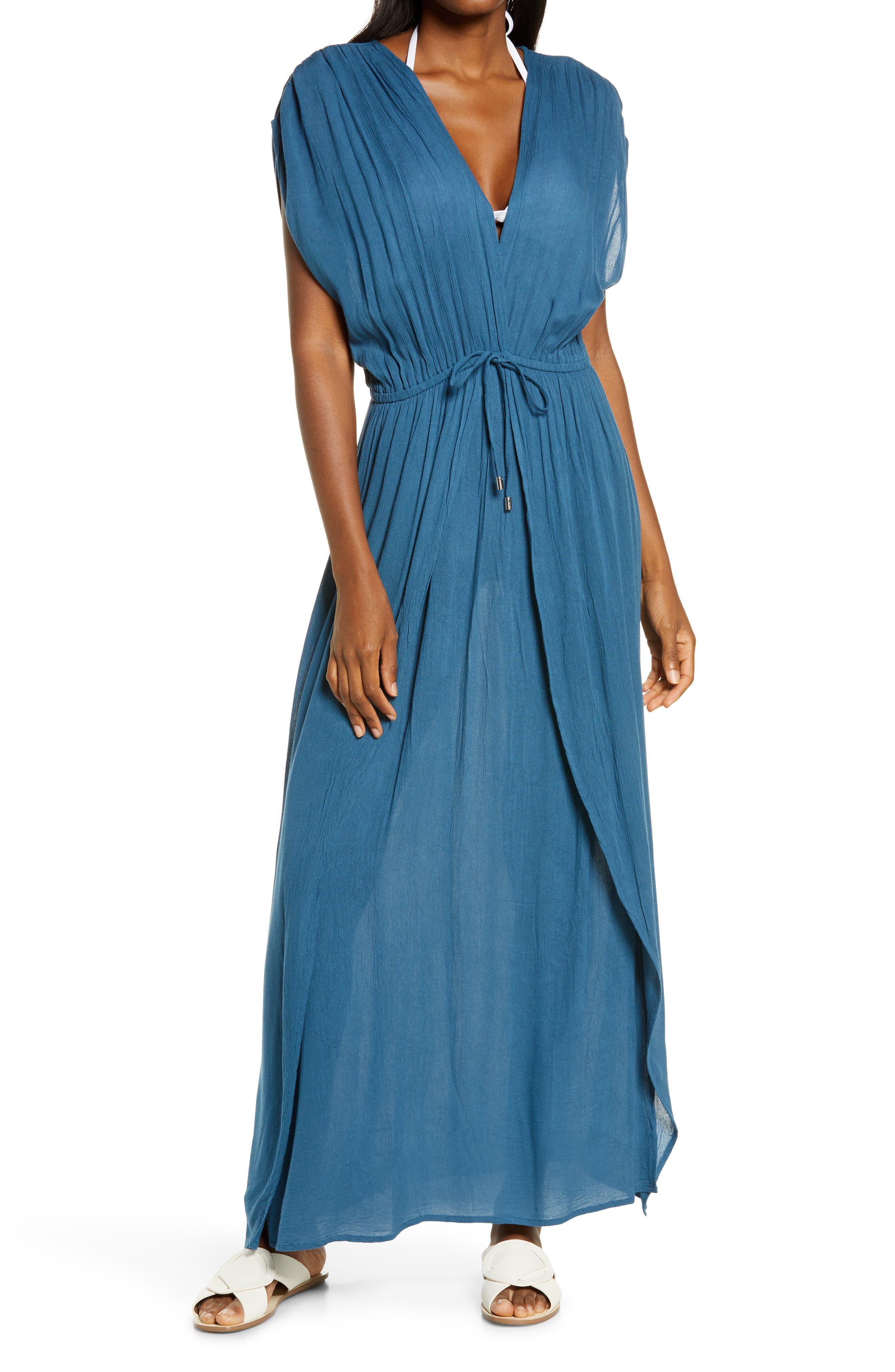 Wrap Maxi Cover-Up Dress