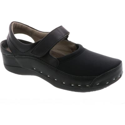 Wolky Ankle Strap Clog-9 - Black
