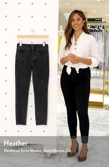 High Waist Raw Hem Skinny Jeans, sales video thumbnail