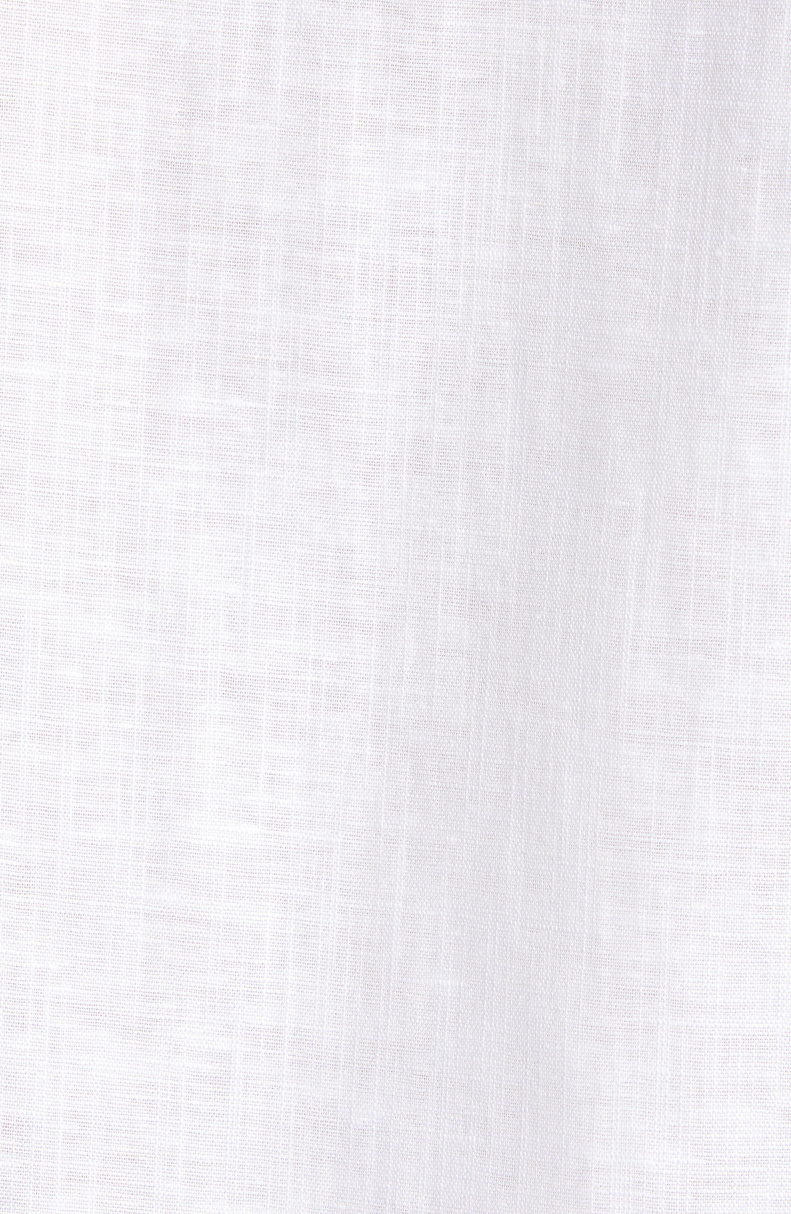 ,                             Emuu Slim Fit Linen Shirt,                             Alternate thumbnail 5, color,                             WHITE