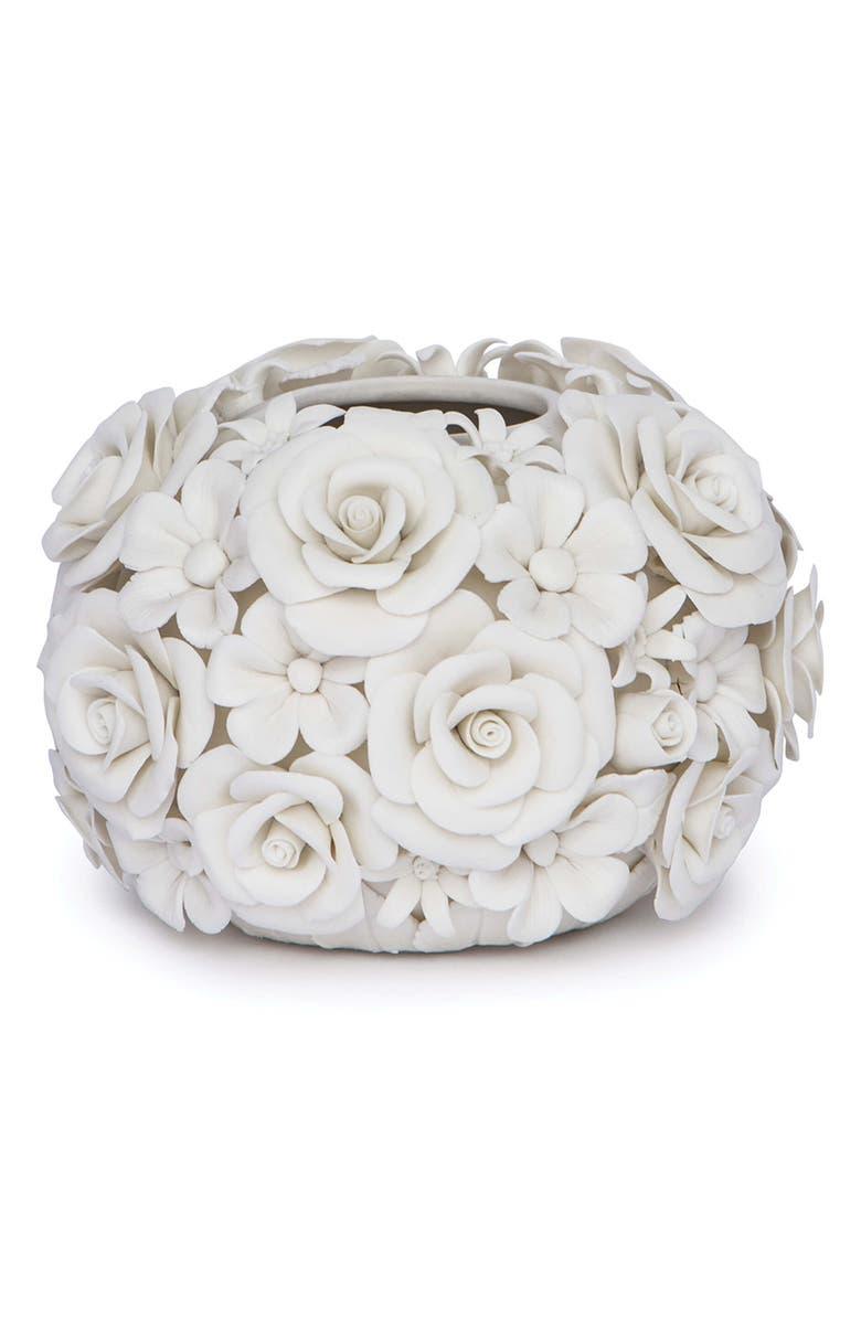 REGINA ANDREW Alice Porcelain Flower Vase, Main, color, WHITE