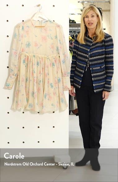 Long Sleeve Floral Print Georgette Dress, sales video thumbnail