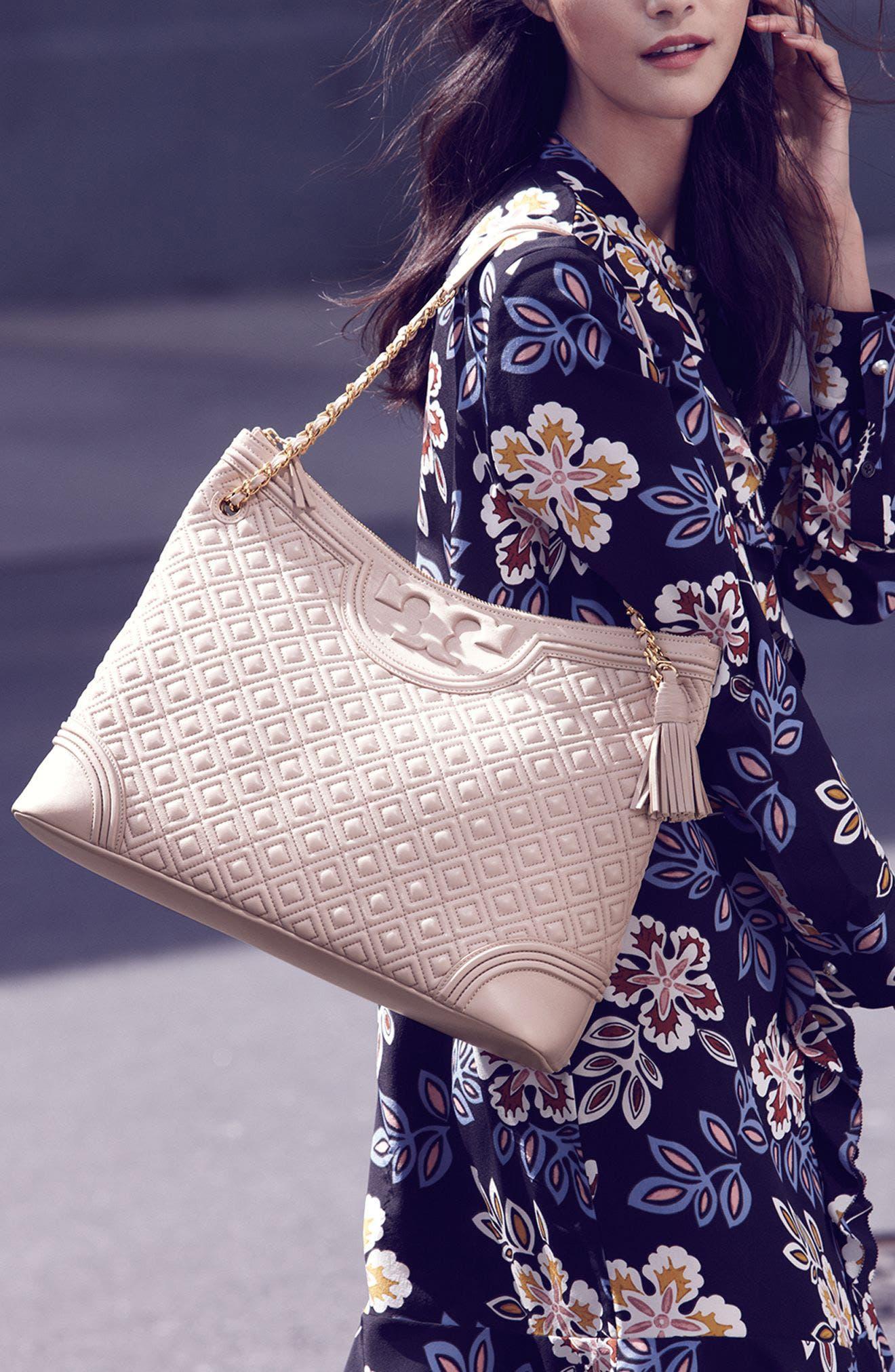 ,                             'Fleming' Leather Shoulder Bag,                             Alternate thumbnail 7, color,                             012