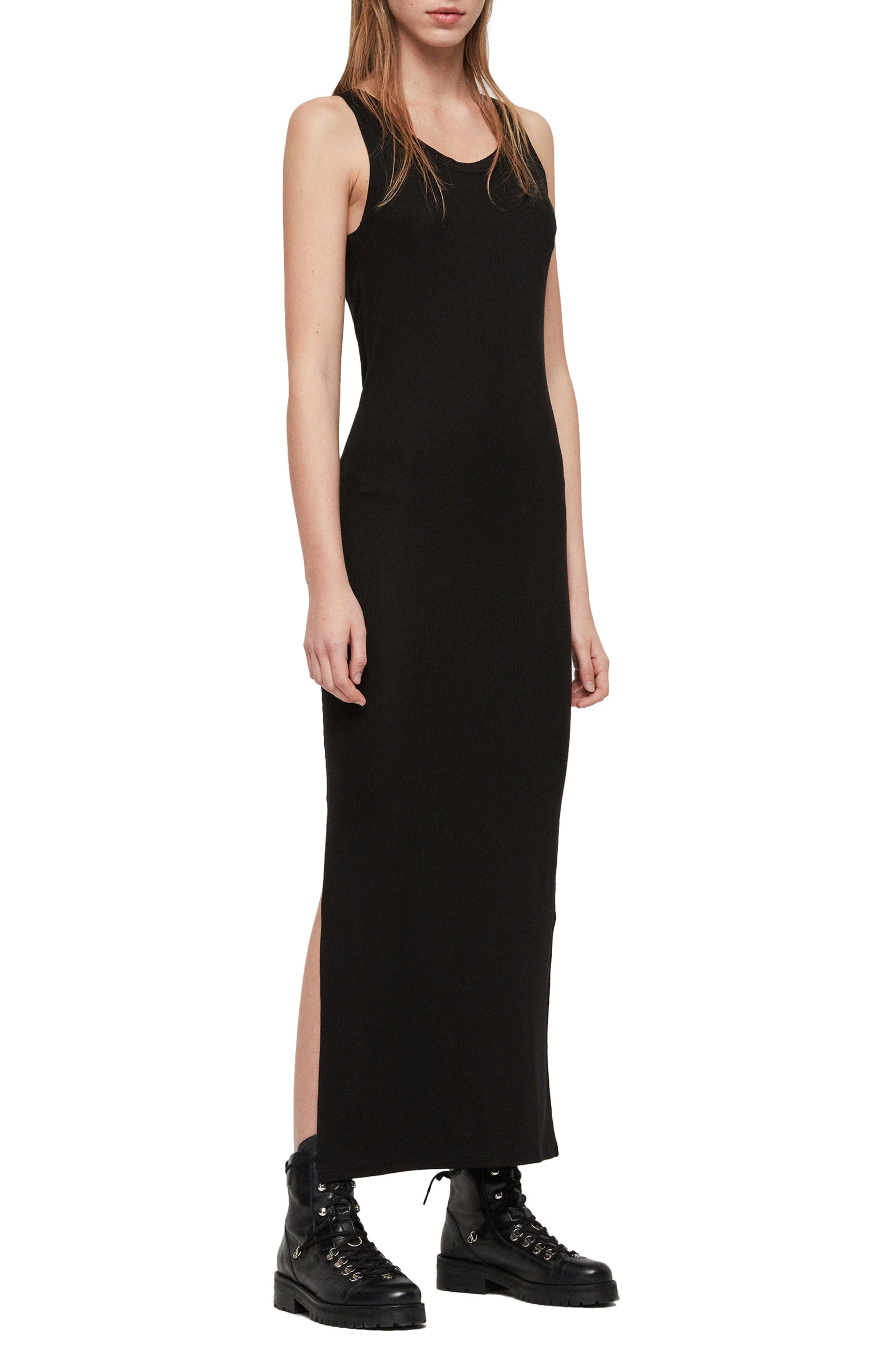 Allsaints Rina Maxi Dress, Black