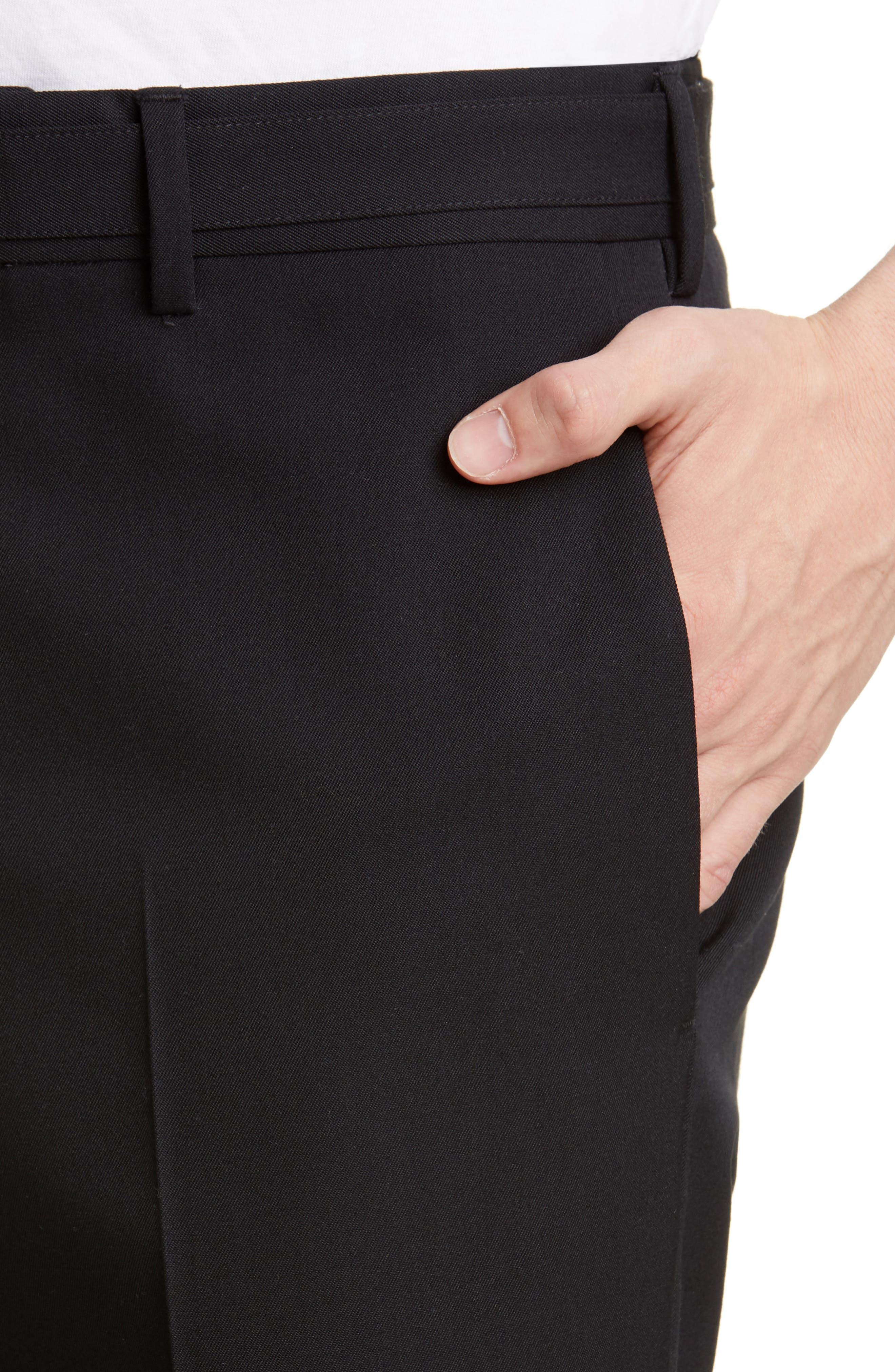 Helmut Lang Dresses Crop Slim Fit Wool Dress Pants
