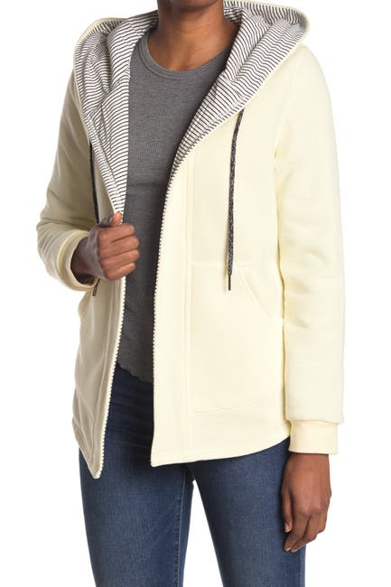 Image of MELLODAY Drawstring Hoodie Open Front Coat Jacket