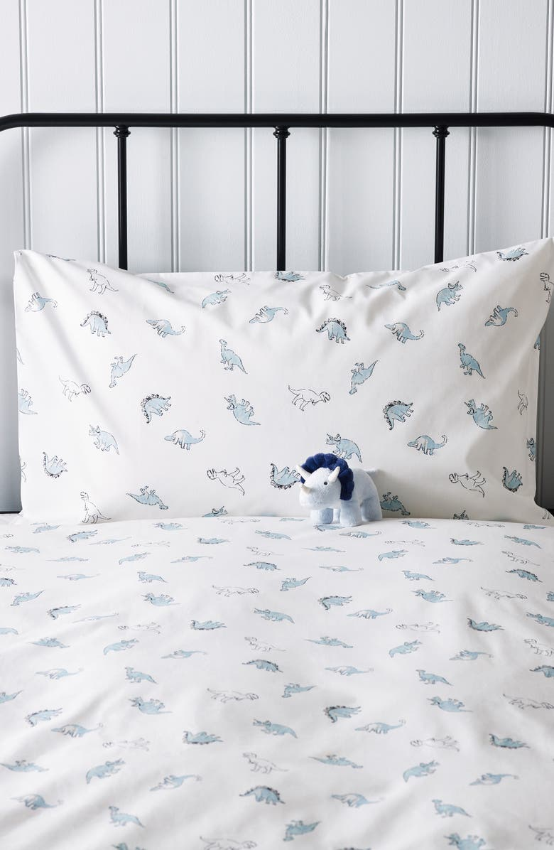 THE WHITE COMPANY Dino Print Duvet Cover & Sham Set, Main, color, 100