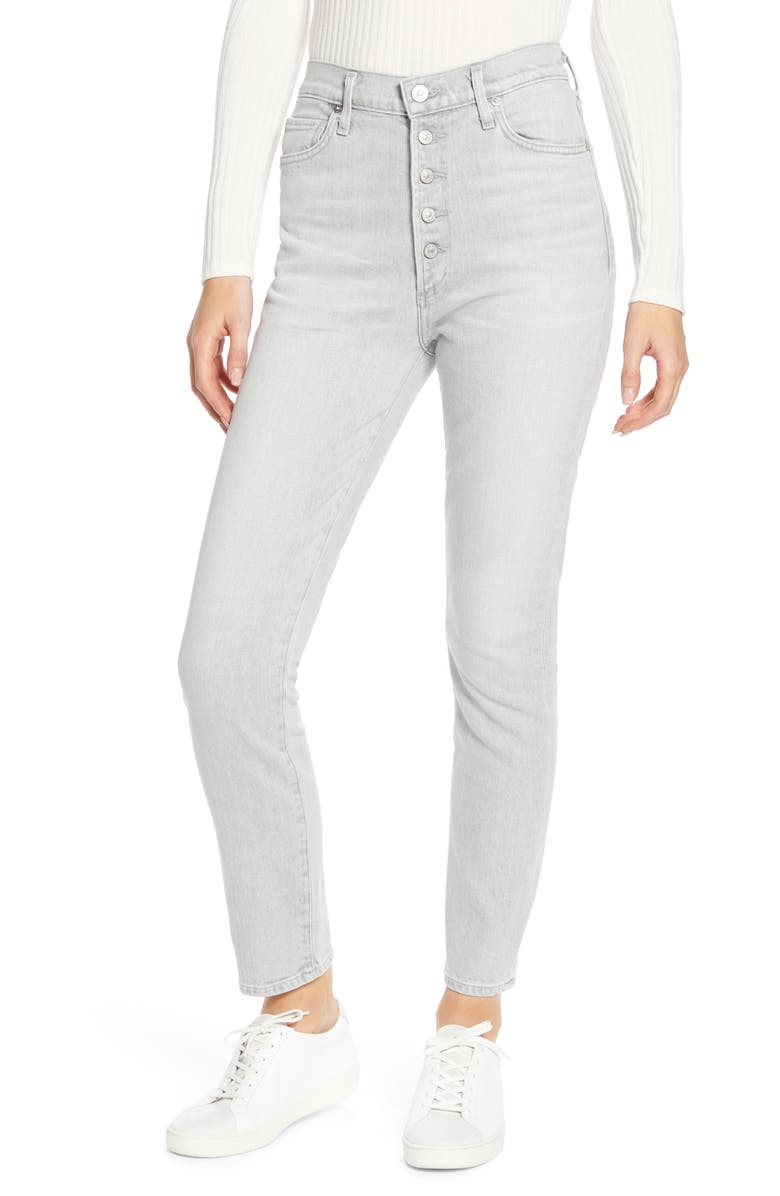 CITIZENS OF HUMANITY Olivia High Waist Ankle Slim Jeans, Main, color, ZINC