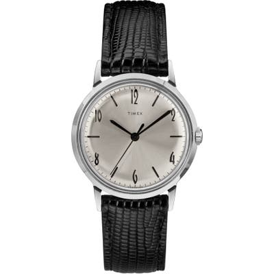 Timex Marlin Leather Strap Watch,